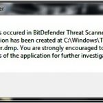 Fix ! A Problem Has Occurred In Bitdefender Threat Scanner Now